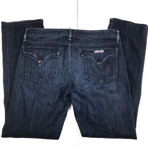 Hudson Straight Leg Jeans Pocket Flap Size 30